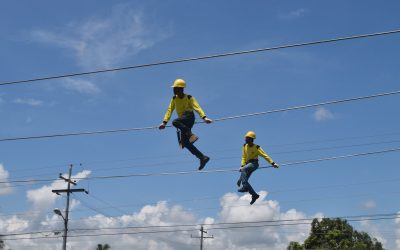 COTELCO Linemen at the COTELCO Pole Rodeo Competition