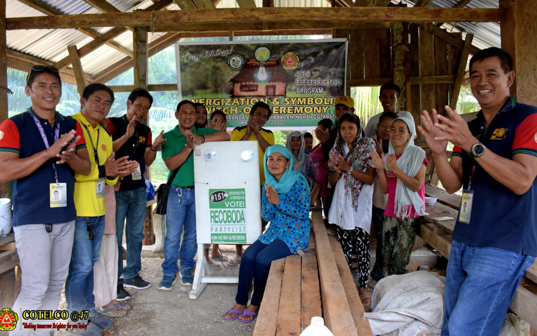 SEP Energizes 20 HOUSEHOLDS in Kabacan town